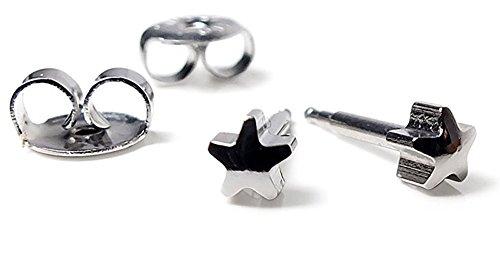 Minott Stern Erstohrstecker Ohrschmuck Ohrringe Ø 4mm Edelstahl 100 % Steril - Sterile Ohrringe