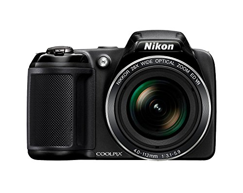 Top Nikon Coolpix L340 – Black + Case + 32GB Memory Card + 4xAA Battery and Charger (20.2MP, 28x Optical Zoom) 3.0 inch LCD Special