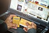 druck-shop24 Wunschmotiv: Online Banking, Optical chipTAN Generator #116995565 - Bild auf Leinwand - 3:2-60 x 40 cm/40 x 60 cm