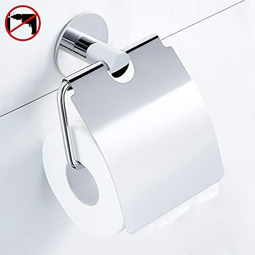 Hoomtaook Toilettenpapierhalter Ohne Bohren, Selbstklebender- Kleber, Edelstahl, Poliertes Finish