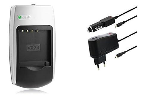 Ladegerät NP-40 für Casio Exilim EX-FC100, FC150, P505, P600, P700, Z30, Z40, Z50, Z55, Z57, Z100, Z1080, Z1200, Z200, Z300, Z400, Z450, Z500, Z600, Z650, Z700, Z750, Z850, Z1000, Z1050 // Exilim Pro EX-P505, P600, P700 u.a. (s. Liste)