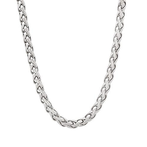 durable-solid-stainless-steel-35mm-rounded-wheat-chain-necklace-50-cm