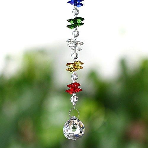 H & D Kristall Fenster Anhänger Kristall Fengshui Suncatcher RAINBOW Maker Kronleuchter Ball Prism (Alle Glas-kristall-kronleuchter)