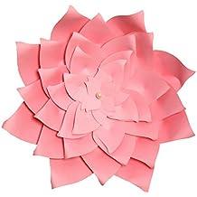 OULII 30CM molino de viento simulado 3D flor de papel Decoración pared Stick para la decoración