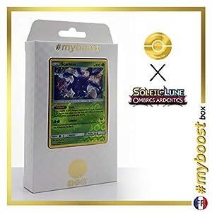 Scarhino (Heracross) 11/147 Holo Reverse - #myboost X Soleil & Lune 3 Ombres Ardentes - Box de 10 Cartas Pokémon Francés