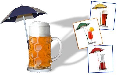 Bierschirmchen/Cocktailschirm/Eisschirmchen/Getränkeschirm - gelb 5er Set