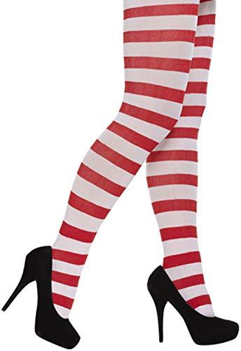 Wenda Wally Kostüm - Janisramone Frauen Damen Neu Rot Weiß Streifen Wenda Wally Kostüm Welt Buch Tag Henne Party Erwachsene Fancy Kleid Outfit
