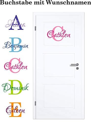 NEU Aufkleber/Sticker für Kinderzimmer - Wände,Türen, Autoscheiben/Lack uvm ***BUCHSTABE mit WUNSCHNAMEN***(Größen.- und Farbauswahl) Höhe Der Wand