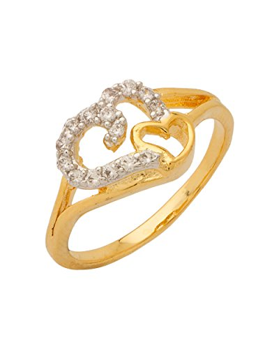 Voylla Gold & Rhodium Plated American Diamond Cz Ring For Girls And Women  available at amazon for Rs.146