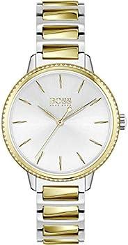 ساعة يد كوارتز بعرض انالوج للنساء مع سوار ستانلس ستيل من هوغو بوس - 1502568