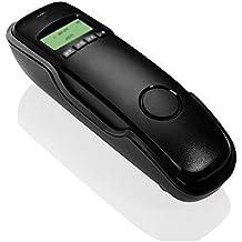 SLIANG Telefono a casa Telefono a Muro ID chiamante Ufficio Fisso (200 x 70x50mm) (Colore : Nero)