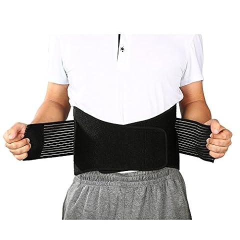 OUTAD Rückenbandage | Rückenstütze für Herren und Damen, Rückenstützgürtel| Bauchweggürtel, Stützgürtel Rücken, Rückengurt, Bauch Bandage, Fitnessgürtel gegen Rückenschmerzen(XXL(43-53 Zoll))