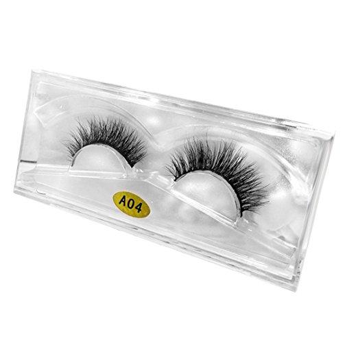 LuckyGirls 3D Falsche Wimpern Natürliche Multi Layer Dickes Kreuz Schwarz Eyelasches Wimpernverlängerung Make-up (one Size, D)