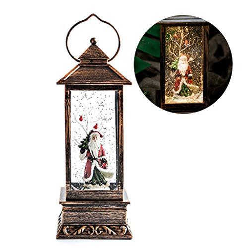 YHNUJMIK Retro Weihnachten LED-Nachtlicht Kerze-Lampen-Weihnachtsschneemann-Hirsch Weihnachtsmann Hochzeit Im Freien Feiertags-Party-Dekoration Hang Bar,A -