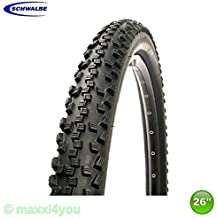 01022613S1 1 x Schwalbe Black Jack Neumático de la bicicleta Cubierta Negro 26 x 2,10 - 54-559