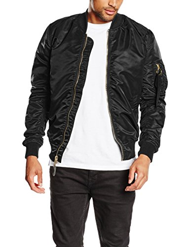 Alpha Industries Herren Bomberjacke MA-1 VF LW, Schwarz (Black/Copper 209), X-Large