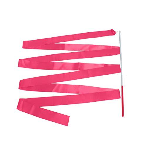 Trimming Shop Ginnastica Ritmica Rosa Acceso Nastro con Un Twirling Danza Baton Canna - 4M