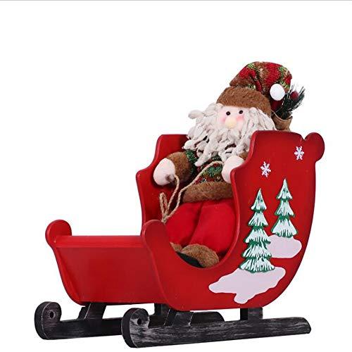 Sunshine Weihnachtsschmuck, Hölzerne Trompete, Schneemobil-Santa-Mall, Supermarkt-Fenster-Display Venue Layout Requisiten