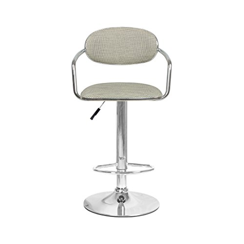 LightSeiEU/Art Bar Tabouret Rotin Weave Sièges, Chaise de Bar Dossier Réglable Spin Café Chaise de Restaurant Beige Brun (Couleur : B)