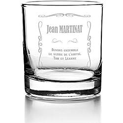 Verre à Whisky Personnalisable - Prénom et Message