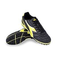 Diadora Men's Capitano TF Turf Soccer Shoes (10 D(M) US, Black/Yellow)