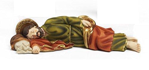 Paben - Estatua de San José durmiendo, artículo religioso 19,5 cm, de resina.