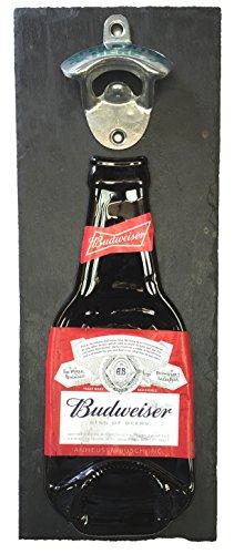 BottleClocks Budweiser Bier Flaschenöffner, für Wandmontage, mit Unterstützung ideal für Ihre Beer Buddies - Guinness-bier Etikett