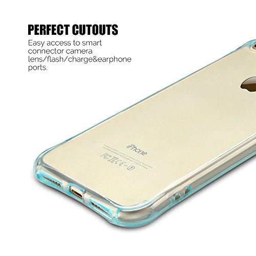 Coque iPhone 7 Plus (5.5 pouce) , TPU Transparente Case Silicone Slim Souple Étui de Protection Flexible Soft Cover Anti Choc Ultra Mince Couverture Bumper Anfire Housse pour iPhone 7 Plus - Rose Bleu