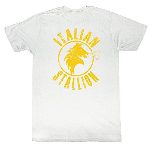 American Classics Rocky mgm film italienischer hengst mit druck T-shirt für Herren X-Groß Weiß