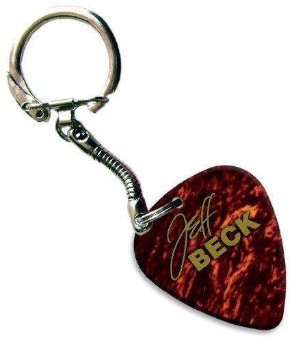 jeff-beck-hot-foil-pick-anello-portachiavi-plettro-per-chitarra-tortoise-shell
