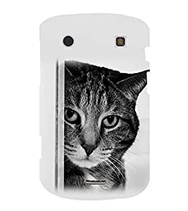 printtech Cat Looking Back Case Cover for BlackBerry Bold Touch 9900 :: BlackBerry Dakota :: BlackBerry Magnum