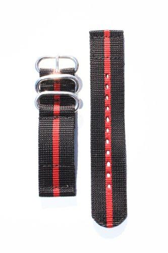 22mm-noir-rouge-2-pc-sangle-en-nylon-balistique-robuste-avec-deux-anneaux-s-s-et-s-s-lourds-boucle-i