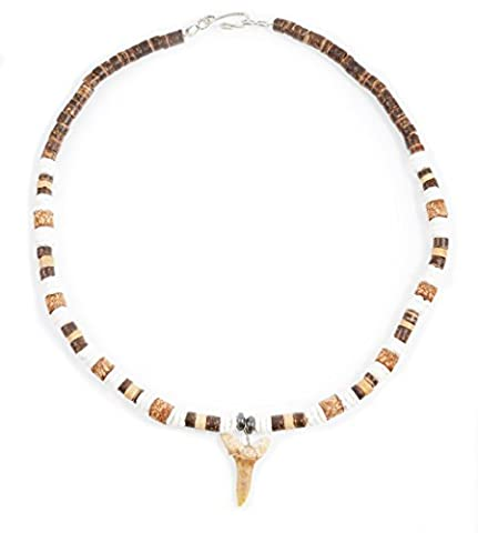 Fossil Shark Tooth Necklace - Brown