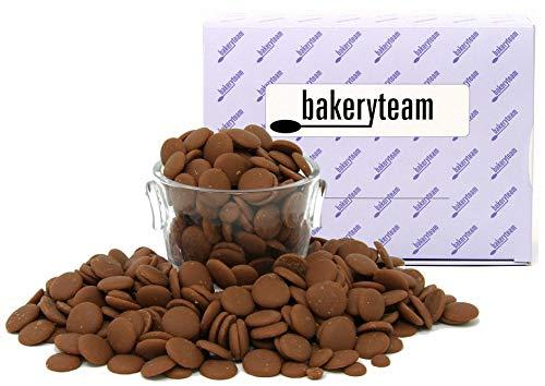 bakeryteam EDEL-Vollmilchschokokuvertüre 400g GRÖMITZ mind. 38% Kakaogehalt Chips auch für unser...