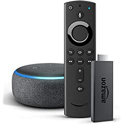 Amazon Fire TV Stick with all-new Alexa Voice Remote + Echo Dot (3rd Gen), Charcoal Fabric