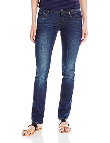 G-STAR RAW Women's Midge Saddle Mid Straight Jeans, Blue (Dark Aged), W30/L30