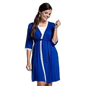Zeta-Ville-Premam-CamisnBata-Pijama-Mezcla-Y-COMBINA-para-Mujer-591c-Bata-Azul-Real-EU-44-2XL