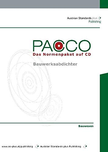 PACCO Bauwerksabdichter: Das Normenpaket auf CD-ROM