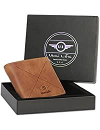 Ubai LIFA Men Formal And Casual Trendy Bi Fold Wallet With 10 Card Slots Note Cases With Detachable Card Holder...