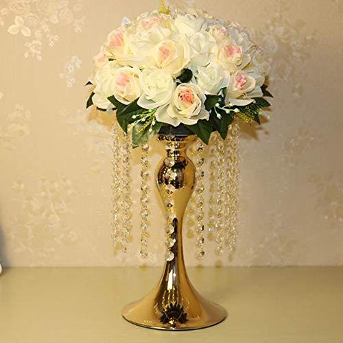 WYEING. Gold Acryl Imitation Kristall Kerzenhalter Ständer Gold/Silber Blume Vase Hochzeit Tafelaufsatz Blei-Road Kerzenständer Für Hochzeit Event Dekoration 34Cm,20cm*34cm -