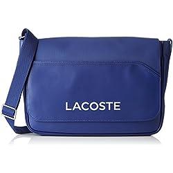 Lacoste NH0864UT, Sac bandouliere Homme, Mazarine Blue, 27 x 10 x 39 cm