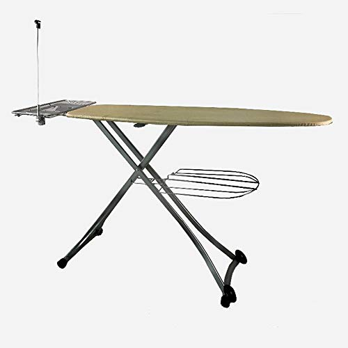 YXS 130 * 46 cm Bügelbrett Profi, Haushalt Folding Bügelbrett, Knitterschutz Zeit, Dampfbügeltisch mit stabilen Rahmen