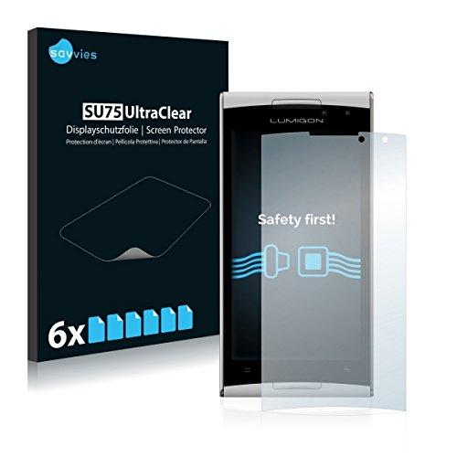 6x Savvies SU75 UltraClear Bildschirmschutz Schutzfolie für Lumigon T2 HD (2014) (ultraklar, mühelosanzubringen)