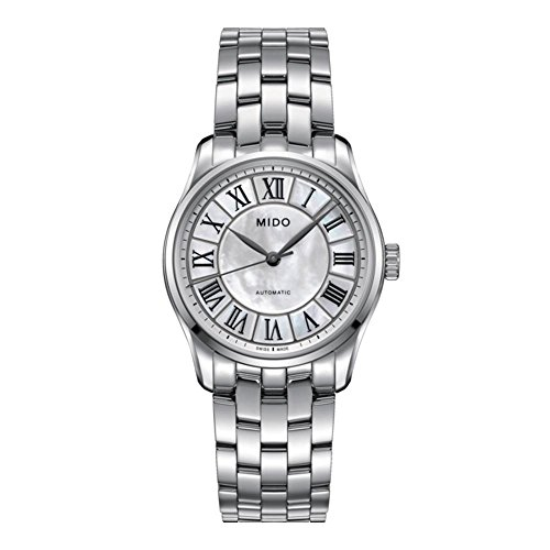 MIDO Women's BELLUNA II 33MM Steel Bracelet Automatic Watch M024.207.11.110.00
