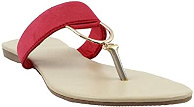639e1742998dc Karat Gold women Sandal - Red  Buy Online at Low Prices in India ...