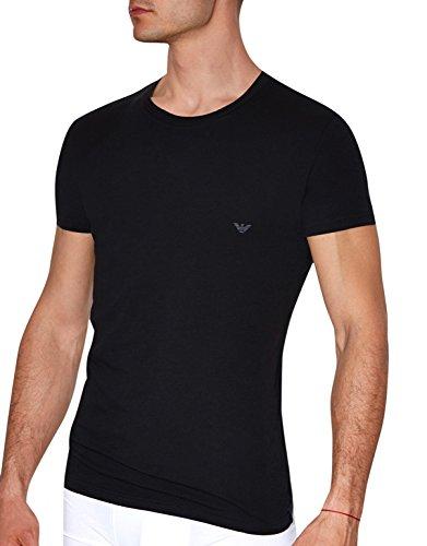 Emporio Armani Eagle Crew Neck T-Shirt 5P745, Schwarz Schwarz