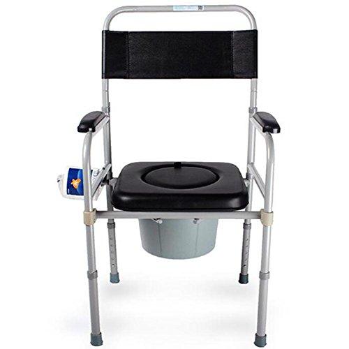 HYHAN Kommode Healthcare zusammenklappbar, verstellbar, WC-Bad Stuhl Eingeschränkter Mobilität Kommode Stuhl -