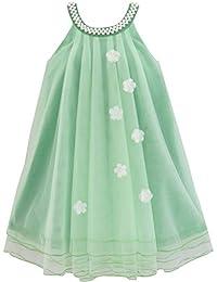 Mädchen Kleid Blume Halfter Kleiden Perle Hochzeit Gr. 98-158