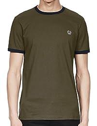 Fred Perry Ringer T Shirt Iris Leaf, T-Shirt
