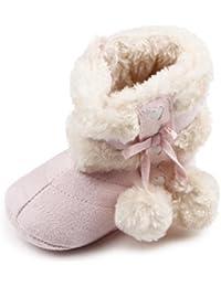 Auxma Zapatos de bebé, mantenga cálida Bebé suave suela botas de nieve zapatos niña